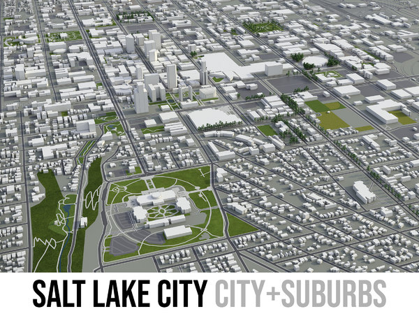 3D model city salt lake