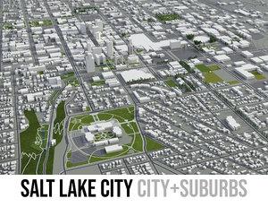 3D model city salt lake