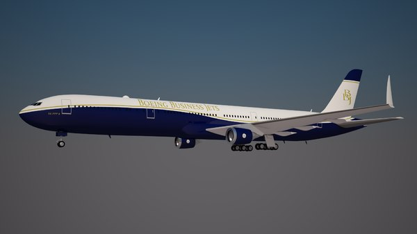 boeing business jets 777 3D model