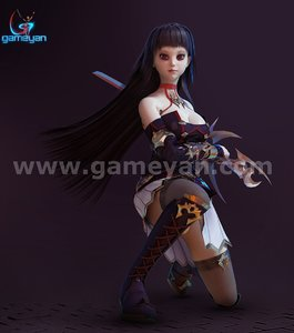 Seria  Beautiful 3D Character Animation Model By GameYan Animation Movie Production Companies
