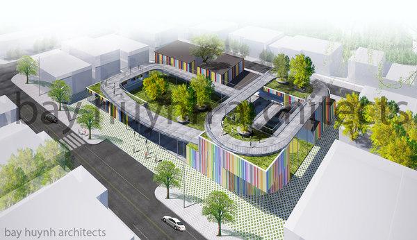 3D colorful kindergarten