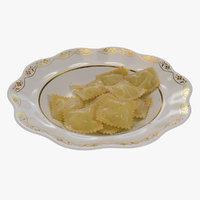plate ravioli 3D model