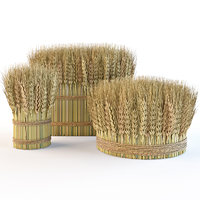 Decorative wheat sheaves