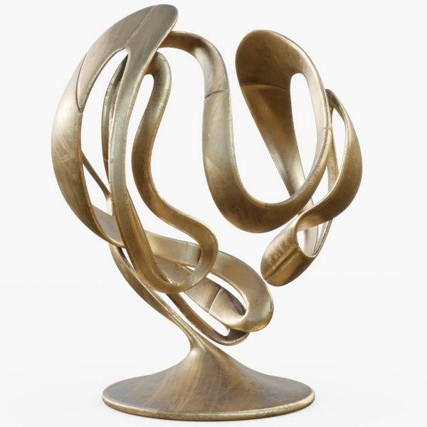 3D model metal sculpture 02