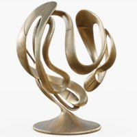 3D model metal sculpture 02