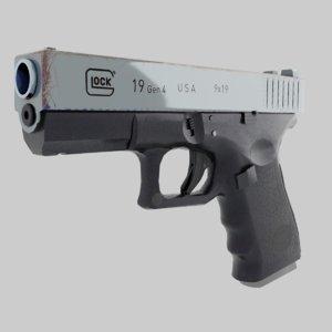 gun glock 19 3D model