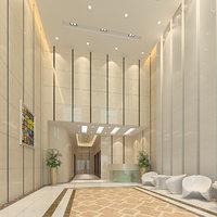 3D modern hall scene