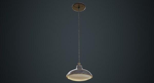 3D model hanging lamp 6d