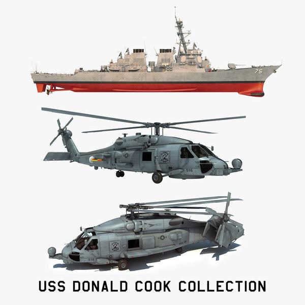 2 uss donald cook 3D model