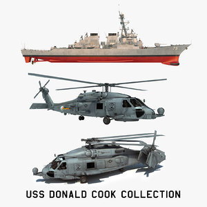 2 uss donald cook 3D model