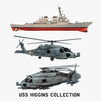 2 uss higgins ddg 3D model