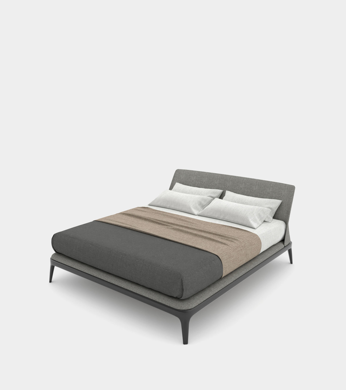 double bed bedhead modelled 3D model