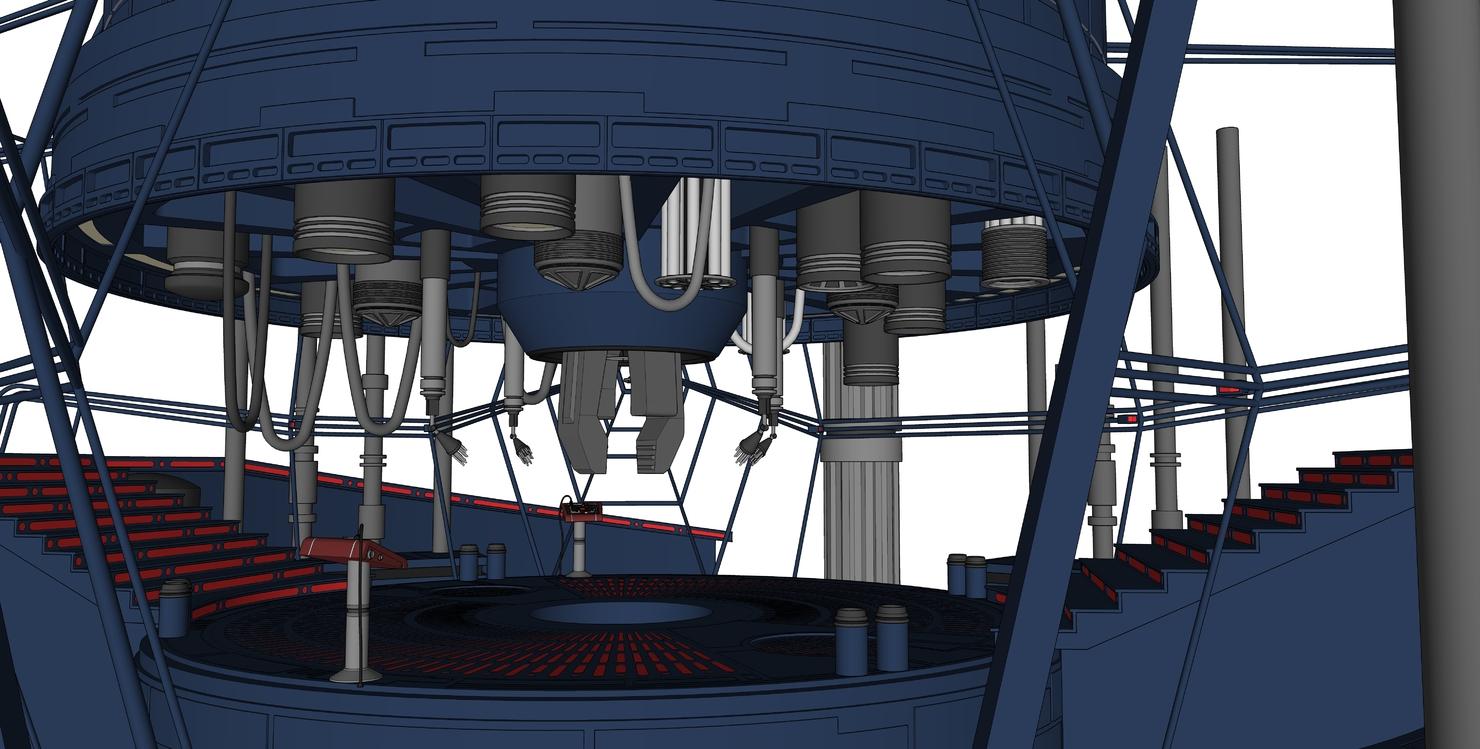 3D carbon freezing room model