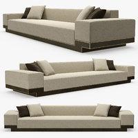 pouenat - flamboyant sofa 3D model