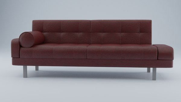 3D leather sofa