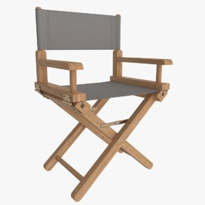 wooden directors chair 3D model