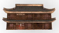 3D fantasy medieval oriental chinese house