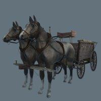 horse harness 3D model