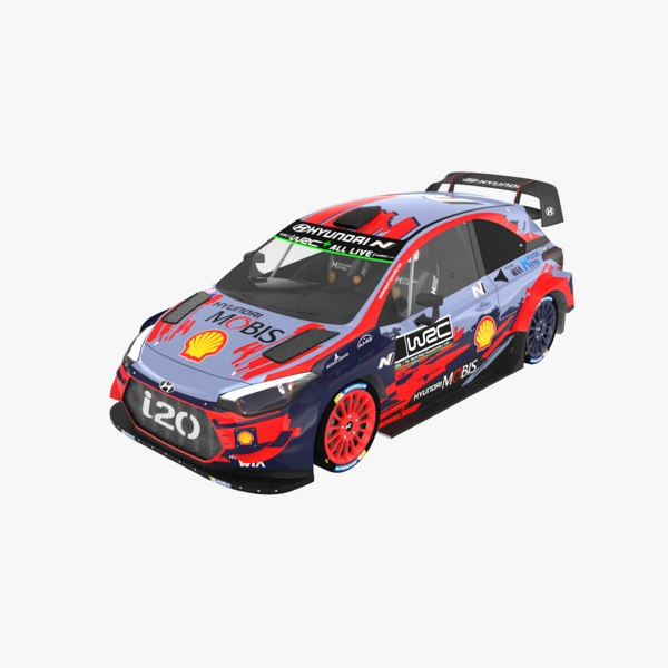 3D hyundai i20 coupe wrc