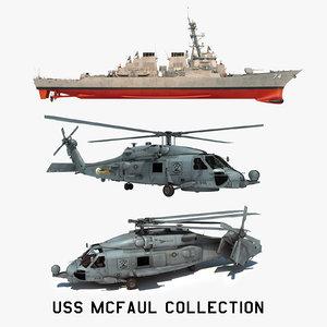 3D 2 uss mcfaul ddg model