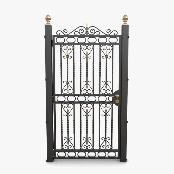 3D wrought iron gate 03