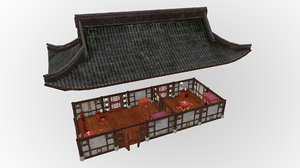 fantasy medieval oriental chinese house 3D