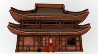 fantasy medieval oriental chinese house 3D model