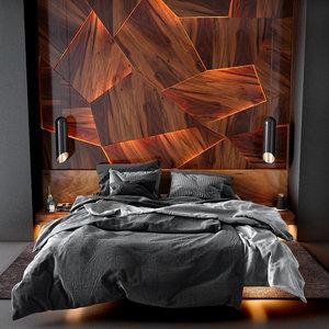 bedroom set 3 bedding 3D