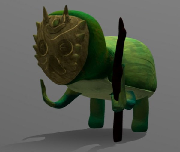 3D cartoon sage turtle fantasy