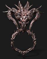 dragon head decoration ue4 3D model