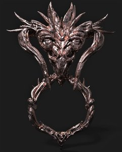 dragon head decoration ue4 3D model