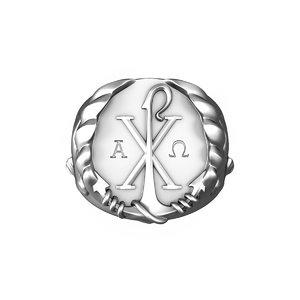 3D anchor silver ring