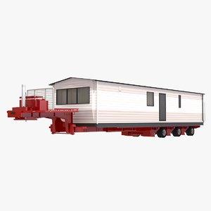 3D model trailer house