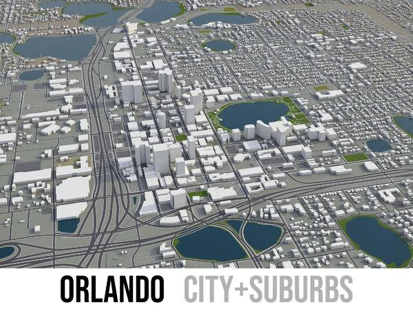 3D city orlando surrounding area