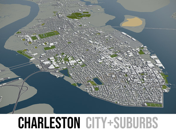 city charleston surrounding area model