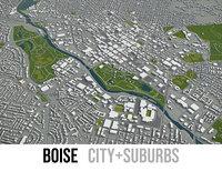 3D model city boise surrounding area