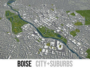 3D model city boise surrounding area