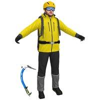 climber helmet backpack 3D model