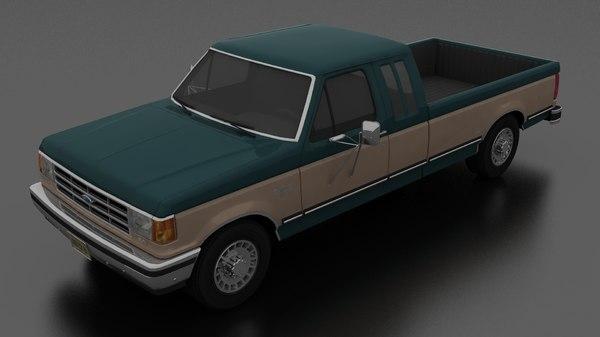 3D f-250 xlt lariat pickup