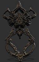 Gothic Fantasy Head Door Knob Game-ready 3D Asset (UE4) ( Prop #3)