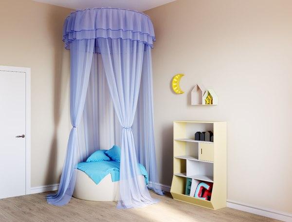 pillows fabric designer 3D model