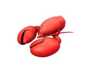 3D model lobster cartoon