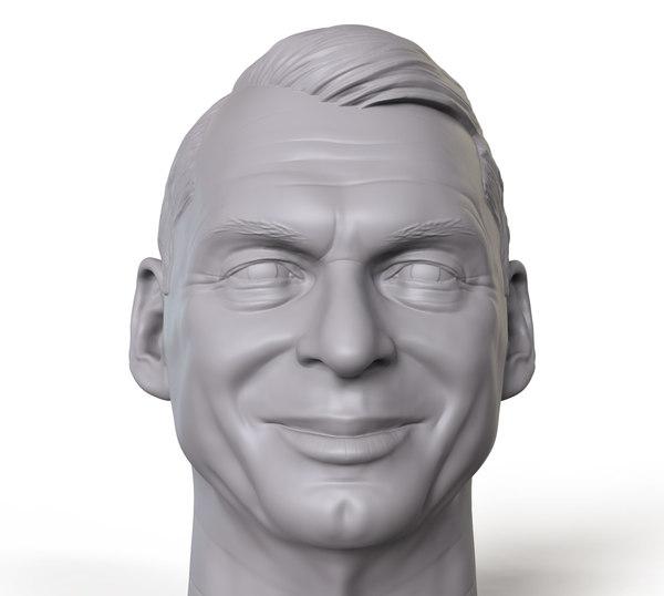 3D mcmahon vince portrait