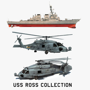 2 uss ross ddg 3D model