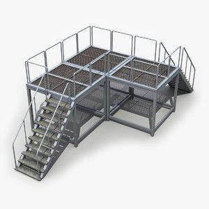 3d model modular catwalk