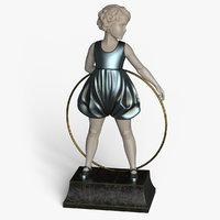 girl statue 3D model