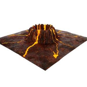 3D volcanic crater model