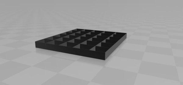 3D tray organizer