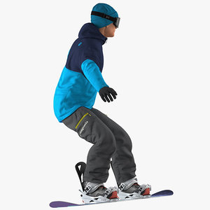 snowboard man snow board 3D model
