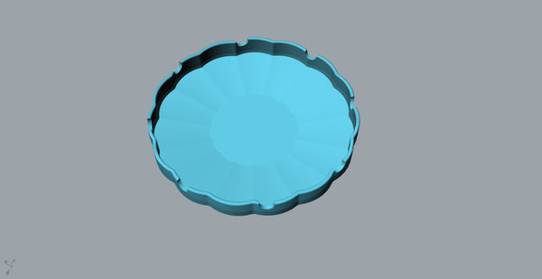 3D orchid creative ashtray printing